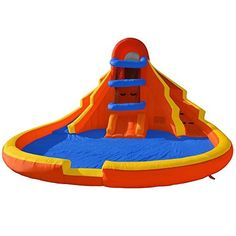 Double Water Slide Pool Bounce House Jumper Bouncer Inflatable Only by Inflatable Backyard Bouncers ** Click image for more details.Note:It is affiliate link to Amazon.