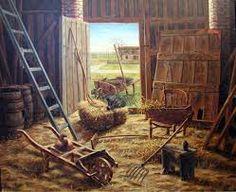 Resultado de imagen para pinturas al oleo de cocinas antiguas