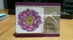 Birthday Card with Blended Bloom and Endless Birthday Wishes