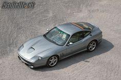 Ferrari 550 Maranello Grigio Titanio with Sabbia leather interior.