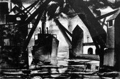 Litho circa 1944 by Milton Wright