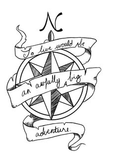 """Peter Pan quote this would be a great tattoo, but the actual quote with """"to die"""" at the beginning Repin & Follow my pins for a FOLLOWBACK!  Change to die not live"""