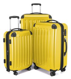 Looking for the best & top rated Hauptstadtkoffer - Spree - Set Of 3 Hard-Side Luggages Glossy Suitcase Hardside Spinner Trolley Expandable Samsonite Luggage, Luggage Trolley, Best Luggage, Vintage Luggage, Hand Luggage, Luggage Sets, Hardside Luggage, Yellow Top, Fashion Handbags