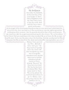 Easter Printables: He Is Risen