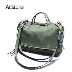 Cheap bag green, Buy Quality ladies shoulder bag directly from China tote  bag Suppliers  ACELURE Women pu leather handbags female vintage nubuck  crossbody ... 42f9da5930