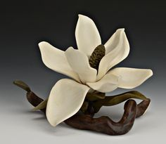 Flowers and leaves carved in wood. Nature wood carvings