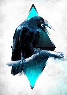 Crow ~ #artwork #graphic #design