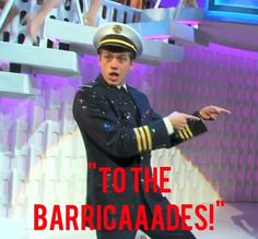 Sometimes Enjolras likes to be a pilot and then make everyone who thought he was a pilot go to the barricade.