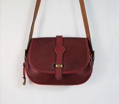 vintage early Dooney & Bourke bag WINE leather fall 1982 by secretlake