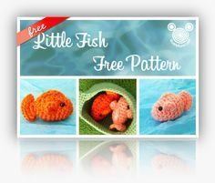 Amigurumi Little Fish Free Crochet Pattern and Tutorial on Buddy Rumi at http://www.buddyrumi.com/blog/2012/7/14/little-fish-free-pattern.html