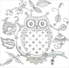 Free Hand Embroidery Pattern: Owl Love You - I Sew Free