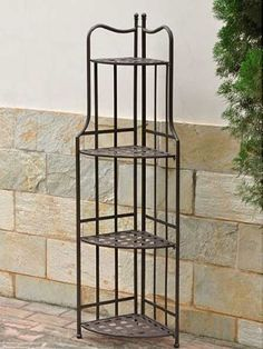 Santa Fe Outdoor 4-Tier Corner Bakers Rack for only $70.80 You save: $54.20 (43%)