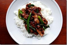 Copycat PF Chang's Mongolian Beef tastes just like PF Chang's version, but is made much healthier, and cheaper, at home! | iowagirleats.com