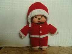 Habits Kiki Père Noël, rouge et blanc : Jeux, jouets par aux-fils-du-bocage Elf On The Shelf, Monkey, Etsy, Couture, Vintage, Holiday Decor, Home Decor, Baby Bunnies, Red And White