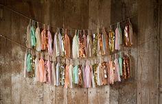 CUSTOM 30 paper tissue garland fringe tassels by ohtobehappy, $40.00