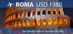 #ROMA Volando con Air Europa. Precio final con impuestos incluidos. Válido hasta Diciembre 2012.