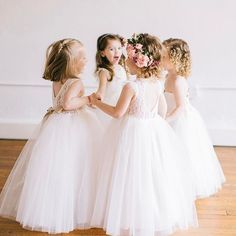 How cute are these flower girl dresses from ? Wedding Photography With Kids, Ugly Dresses, Wedding With Kids, Wedding Gallery, Wedding Photos, Bridesmaid Dresses, Wedding Dresses, Bridal Looks, Wedding Styles