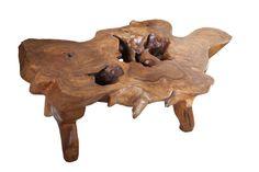 mesa de centro tronco madeira teca da empóriobrasildesign