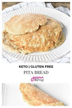 Sometimes you just want flatbread or pita bread! Don't let keto stop you! Enjoy this fluffy keto pita bread and stuff it to your hearts's desire! Healthy Bread Recipes, Ketogenic Recipes, Low Carb Recipes, Real Food Recipes, Vegan Recipes, Snack Recipes, Cooking Recipes, Keto Snacks, Recipes Dinner