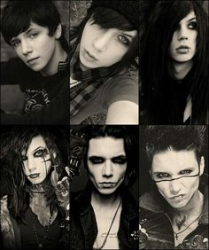 Andy Biersack through the years, so beautiful