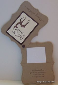 Stampin Up A Dasher Top Note Christmas Gift Card Holder | Stamping with Brenda