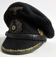 Reproduction German U-Boat Submarine Blue Topped Peaked cap with 70+ years of ageing and numerous dark & worn and tarnished areas as worn by the Captain of U-380 Albrecht Brandi.  www.warhats.com