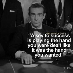 Ah Mr bond ! I've been expecting you ! True Quotes, Great Quotes, Quotes To Live By, Motivational Quotes, Inspirational Quotes, Qoutes, Quotes Quotes, Leader Quotes, Success Quotes