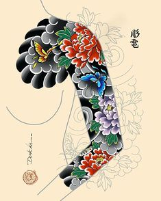 Click web site other content Tattoo Japanese Style, Japanese Flower Tattoo, Japanese Tattoo Designs, Japanese Sleeve Tattoos, Japanese Flowers, Flower Tattoo Designs, Flower Tattoos, Japanese Art, Koi Tattoo Sleeve