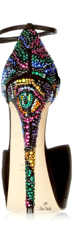 Bling my black Heels out ...purple pink red black yellow green stones