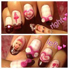 Barbie nail ❤ by azusa @Barbie @BarbieCollector.com.com #nailart #barbienail #3d