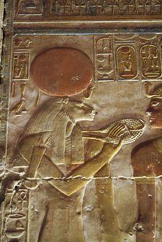 Templo de Sethi I  , segunda sala hipóstila , pared de las capillas. Abydos