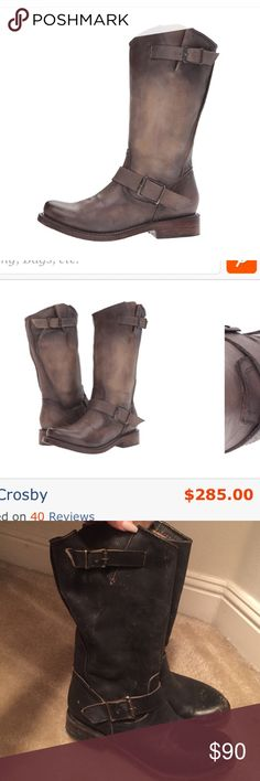 Nordstrom Boots (FB Crosby) These have been worn once. 10 Crosby Derek Lam Shoes Combat & Moto Boots