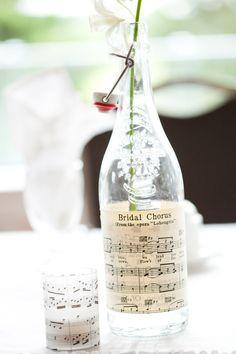 Music Sheet Bottles