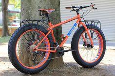 Bicicleta con Llantas Gruesas.