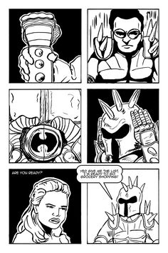 """""""Armor Up!"""" from """"The Schlub"""" by Illya King #webcomics #comics #indiecomics #schlublove"""