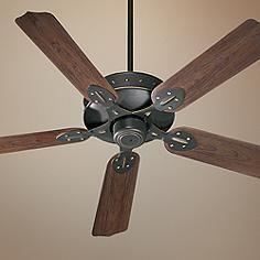 """Craftsman Fan 52"""" Quorum Hudson Old World Patio Ceiling Fan"""