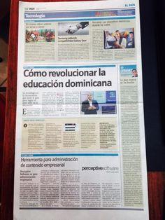 Este es el contenido de nuestra página Tecnologia del Periodico Hoy CÓMO REVOLUCIONAR EDUCACIÓN DOMINICANA