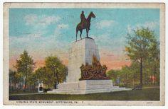 Postcards - United States # 26 - Virginia State Monument, Gettysburg, Pennsylvania