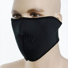 Package includes: One piece of Black Neoprene Motorcycle Biker Snowboard Half Face Ski Mask Size(approx.): 53.3 cm x 21 cm (21 inch x 8.25 inch) Color: Black