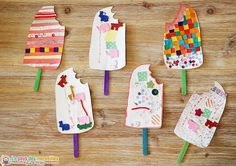 Invitation to create on the theme of ice cream - - Summer Crafts, Crafts For Kids, Entry Doors With Glass, Animation Reference, Pose Reference, Animation Tutorial, Birthday Brunch, Paint Line, Creative Activities