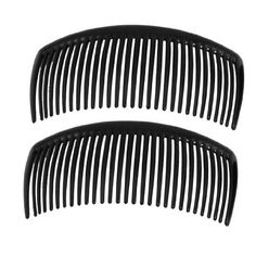 "Rosallini 2 Pcs Black Plastic Comb Hair Clip Clamp for Ladies by Rosallini. $2.92. Weight : 15g. Size : 10.5 x 5cm / 4.1"" x 2""(L*W). Color : Black. Product Name : Comb Hair Clip;Main Material : Plastic. Package Content : 2 x Comb Hair Clip. Black color hair comb clip is a beautiful accessory for ladies to use. Help to clamp your bang or make a hair style easily. Fit for daily use or special case use."