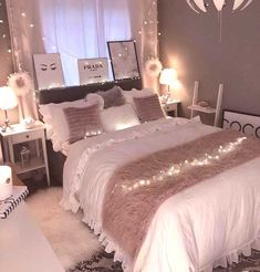 38 Cute and Girly Bedroom Decorating Tips for Teenagers cute bedroom ideas; bedroom for girls.
