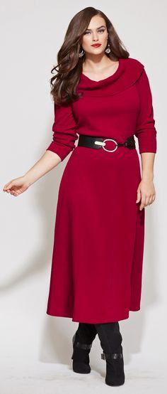 #Modest doesn't mean frumpy. #style #fashion www.Colleenhammond.com Marilyn Knit Plus Dress $74.00