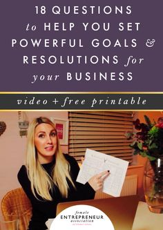 18 questions to help you set powerful goals + free New Year resolutions printable!