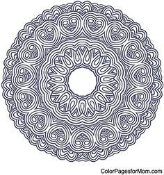 Mandala Coloring Page 12