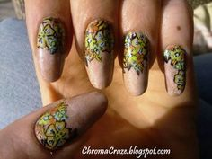 Freehand Flower Nail Art by ~aipe