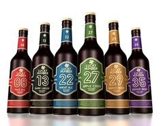 Beer label design for Vancouver Brewery Lucky Number collection of beers. Number 27, Lucky Number, Vancouver, Behance Portfolio, Beer Label Design, Ginger Beer, Wine Label, Media Design, Apple Cider