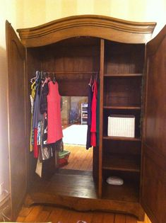 Secret wardrobe entrance to a Narnia themed play room. Want Grace to have this and make a reading nook for me inside ;)