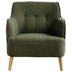Awesome green minimalistic Quest armchair from House Doctor. Nice to combine with the latest interior decoration! House Doctor, Take A Seat, Love Seat, Cocktail Chair, Boutique Deco, Wing Chair, Fancy, Modern Armchair, Upholstered Furniture