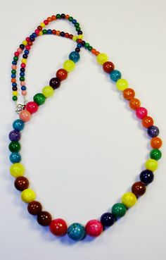 Rainbow Natural Stones Necklace  Free Shipping Across by KukaiShop